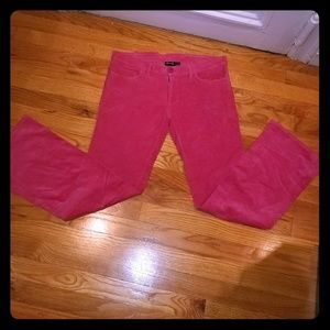 Hurley Pink Corduroy Pants Slight Flare
